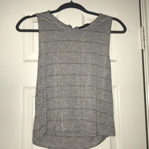 Grey striped tanktop that zippers up the back!